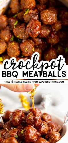 Crockpot BBQ Meatballs crockpotappetizers The BEST homemade party aperitif!Crockpot BBQ Meatballs crockpotappetizers The BEST homemade party aperitif! Crockpot Bbq meatballs are made with just a few simple ingredients, but frankly so good! Slow Cooker Bbq, Slow Cooker Recipes, Beef Recipes, Cooking Recipes, Healthy Recipes, Cooking Tips, Appetizer Crockpot, Appetizer Recipes, Sauces