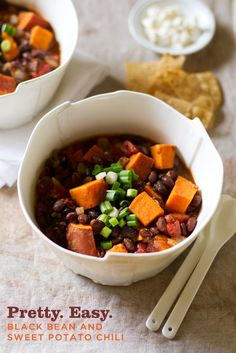 Vegetarian Sweet Potato and Black Bean Chipotle Chili Recipe // Aida Mollenkamp