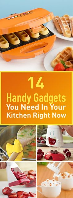 Enrich your kitchen experience with these extremely handy gadgets. In addition to being handy, these gadgets are fun and will inspire you to be more creative. Links to buy each are also provided.
