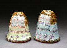 """""""Two Girls"""" Candleholders Shoko Teruyama"""
