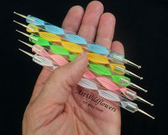 5 Nail Art Tools - Dotting Tools. $5.00, via Etsy.