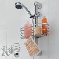 details zu duschregal duschablage fr die brausestange via 29 x 12 x 11 cm ohne bohren - Duschablage Ecke