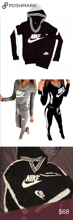 """NEW NIKE TRACK SUIT FOR WOMEN REPLICA Nike track suit: Women// HAND MADE AND RE WORKED. Never been worn. Comes NEW! Comes as a set! (: HAS BEEN SOLD ON """"ETSY"""" Nike Other"""