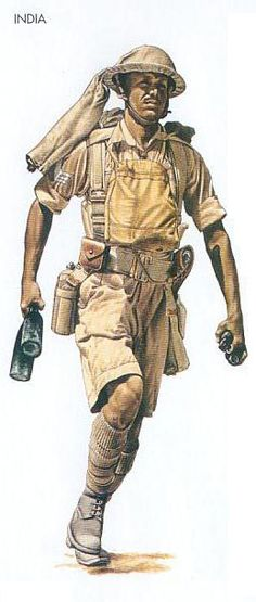 India - 1940 Dec., North Africa, Sergeant, 8th Indian Division, pin by Paolo Marzioli