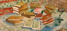 Items similar to Van Gogh Art - Still Life with Books, Le Moulin de la Galette - 1965 Vintage Book Page - Reproduction Print 2 Sided - 11 x 9 on Etsy Van Gogh Art, Dutch Painters, Le Moulin, Vincent Van Gogh, Book Pages, My Sunshine, Vintage Prints, Picture Show, Still Life