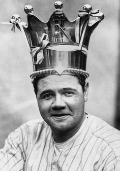 Babe Ruth, king of all baseball. If you can name someone else who hit that many homers fueled solely by hotdogs, beer and women, I'm willing to hear your counterargument. Baseball Photos, Sports Baseball, Baseball Jerseys, Baseball Players, Baseball Bats, Baseball Stuff, Baseball Records, Angels Baseball, Cardinals Baseball