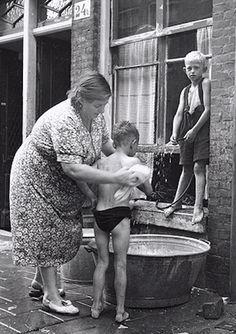 wassen in de teil