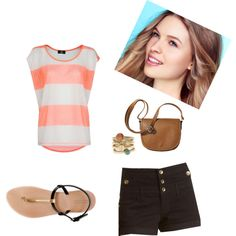 Summer time by own-style on Polyvore featuring moda, MANGO, Charlotte Russe, Zara, Merona and Armani Exchange