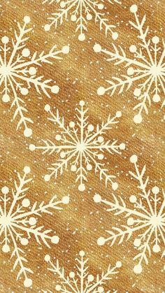 Gold and white ivory cream snowflake Christmas