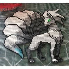 Ninetails - Pokemon perler beads by the_nerdy_girl_crafter