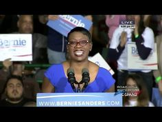 Sen. Nina Turner gave an energizing and inspiring introduction in Cleveland for Bernie Sanders' Rally.