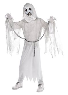 Halloween Boys' Creepy Spirit Halloween Costume L, Boy's, Size: Large, MultiColored Gender: male.