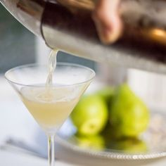 This Pear Nectar Vodka Martini recipe is featured in the Fall and Winter Cocktails feed along with many more. Pear Vodka Martini, Vanilla Vodka Drinks, Vodka Cocktails, Martinis, Drinks Alcohol, Cocktail Drinks, Winter Cocktails, Holiday Drinks, Fall Drinks