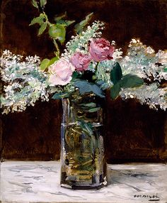Édouard Manet (French, 1832–1883), Vase of White Lilacs and Roses ...