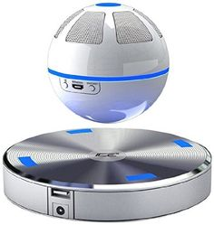 ICE Orb Floating Bluetooth Speaker (White/Blue)