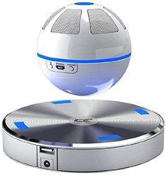 ICE Orb der schwebende Bluetooth Lautsprecher dreht sich über der magnetischen Basis-Station. Die spezielle Lautsprecher-Ausrichtung unterstützt den 3D-Effekt. Der schwebe Abstand zur Basis beträgt 10 mm. Eingebaute NFC-Funktion - jedes Smartphone oder Tablet mit NFC-Funktion kann automatisch verbunden werden.
