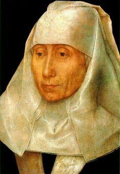 Portrait of a woman. 1468-70. Hans Memling