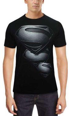 1.Superman Logo Men's Round Neck Cotton T-Shirt @ 649/-