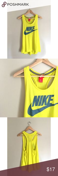 Yellow Nike Active Racer Back Neon yellow Nike racer back from Nike. NWT never worn. 52% polyester, 48% modal. Nike Tops
