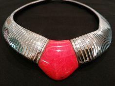 Superb Highly Stylized Jakob Bengel Art Deco Galalith Chrome Art Deco Necklace | eBay