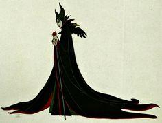 by Marc Davis. Maleficent concept art for Sleeping Beauty. Disney, character design, illustration.