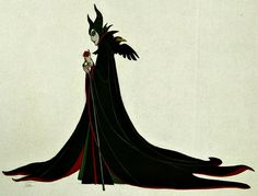 by Marc Davis. Maleficent concept art for Sleeping Beauty. Disney, character design, illustration.