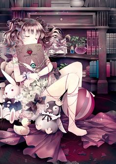 The sleeping princess. Anime girl.