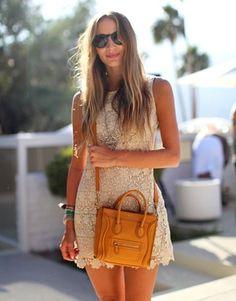 ▲ white crochet dress...perfect for summer