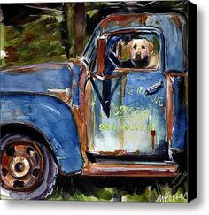 Farmhand Stretched Canvas Print / Canvas Art By Molly Poole
