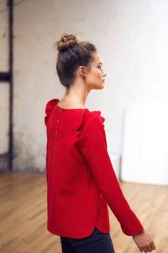 Top Rosie rouge                                                                                                                                                                                 Plus