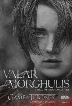 Arya representará a casa Stark como nenhum outro menbro da família.