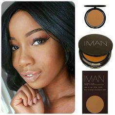 @mezmereyezbytonoi  achieved this flawless skin using the @imancosmetics Second to None Cream to Powder in Clay 3 #teeka4