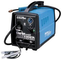 Clarke WE6523 130EN 120-Volt Fluxcore/MIG Welder Weld Steel, Aluminum, Stainless Steel and Cast Iron. Automatic Thermal Overload Protection. Tweco type torch with full ON/OFF safety control. Weld up to 3/16 in a single pass. With the 30 to 130  Peak Amps. 4 power setting and Fan cooled.  #Clarke #HomeImprovement