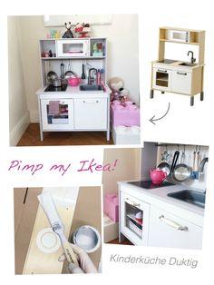 Ikea kinderküche kühlschrank  Ikea Dutkig kitchen hack | IKEA - DUKTIG Play kitchen | Pinterest ...