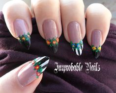 """Improbable Nails: """"Victorian"""" nails (inspired by Robin Moses)"""