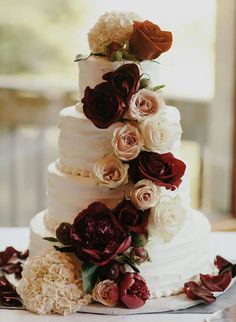 20 Floral Wedding Cake Ideas To Add A Dose Of Romance To Your Big - Wedding Cakes Sydney West