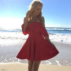 Red Hot Skater Dress