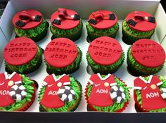 Manchester United Cupcakes Josh birthday idea