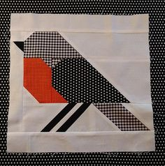 I added a new category to my Etsy Shop: single quilt block patterns in two sizes. This is the Bird quilt block pattern made with Mon Beau Jardin fabric.Bird quilt block pattern by Nadra Ridgeway of ellis & higgs. The finished blocks are 12 anWhile th Mini Quilts, Easy Quilts, Patchwork Quilt Patterns, Paper Piecing Patterns, Quilt Block Patterns 12 Inch, Pattern Fabric, Quilting Patterns, Quilting Projects, Quilting Designs