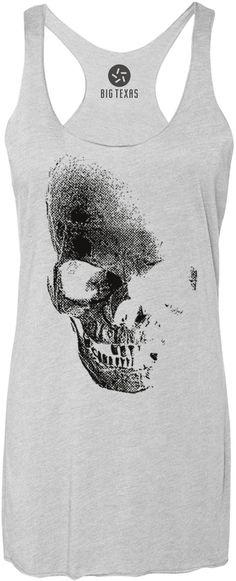 Giant Skull (Black) Tri-Blend Racerback Tank-Top