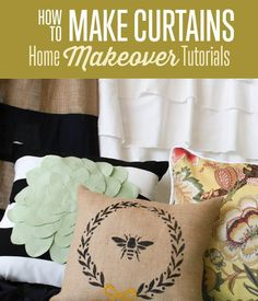 Learn how to make pillows in our home makeover tutorial. Take the course to learn how to make a curtain and how to make throw pillows to decorate your home