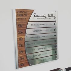 "27 Likes, 1 Comments - Office Sign Company (@officesigncompany) on Instagram: ""Custom directories are just part of our repertoire. #signs #signage #sign #company #workplace…"""