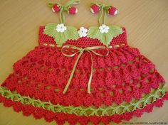 Vestidos de crochê para bebes 4