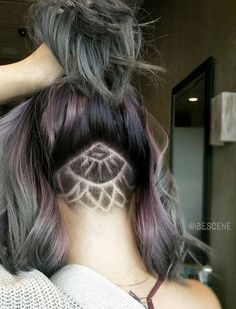 Women's Long Undercut Hairstyles with Hair Tattoos  Check out WTF IS FASHION featuring my thoughts, inspirations & personal style -> http://www.wtfisfashion.com/