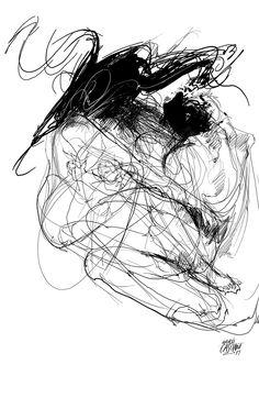 """""""Nexo"""" ilustración de Andrés Casciani para el libro """"Minificciones"""" de Paulo Neo - digital, 2014/ http://andrescasciani.com/"""