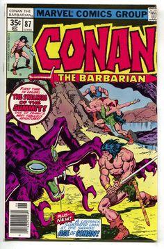 Conan the Barbarian - He Who Waits--In The Well of Skelos! Marvel Comic Books, Marvel Comics, Conan The Barbarian Comic, Conan O Barbaro, Conan The Destroyer, Conan The Conqueror, Fantasy Comics, Fantasy Art, Conan Comics