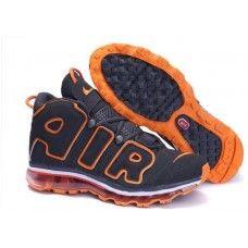 brand new 3a4be ef5c7 Nike Air Max More Uptempo basketball shoes in dark gray orange Zapatillas,  Zapatillas Nike