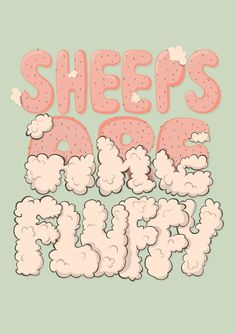 Sheeps are fluffy by Alexandra Mîrzac, via Behance. #cuddly