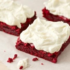 Red velvet brownies...@Hannah Van Amburgh you must make these and give me some!