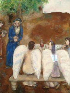 Chagall miloval malování obrazů andělů